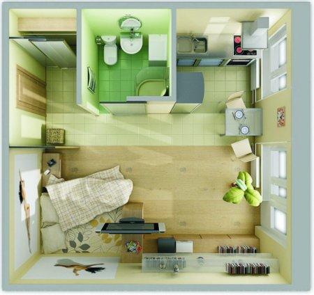 Интерьер квартиры 35 кв м