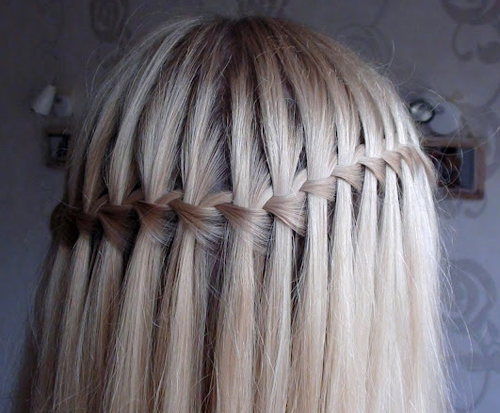 Как сделать водопад на волосах фото