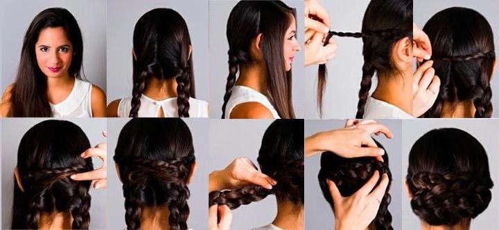 Причёски на средние волосы в домашних условиях