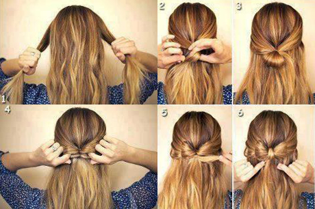 Причёска своими руками бантик