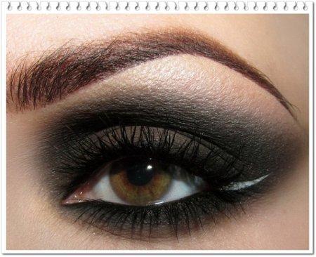 макіяж очей чорними тінями