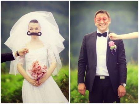 Прикольное оформление фото свадьба