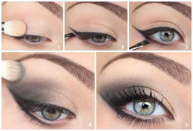 Кошачий глаз макияж как сделать