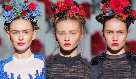 Модные прически под украинский костюм