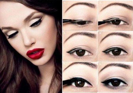 Делаем макияж глаз со стрелками