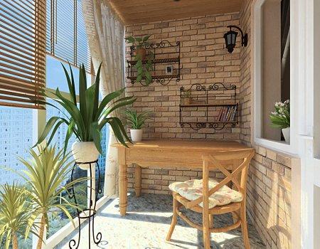 Как оформить интерьер балкона в стиле Прованс