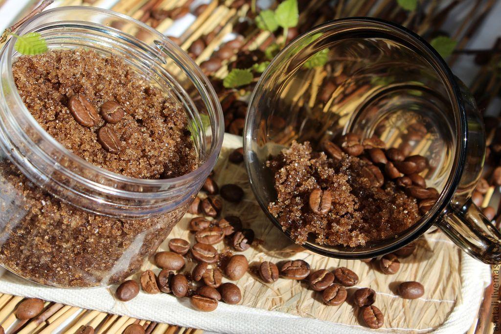 Как сделать скраб из кофе с медом