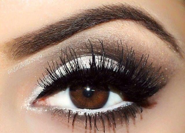 макияж на дискотеку для карих глаз