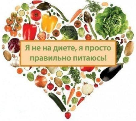 правильное питание рецепты вконтакте