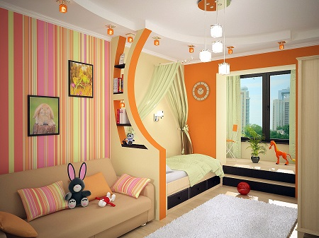 Кращі ідеї для оформлення інтер'єру дитячої кімнати
