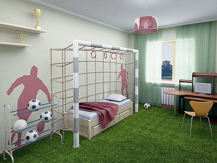 Детская комната для мальчика интерьер