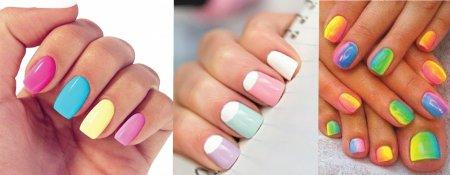 Манікюр нігті різного кольору – найпопулярніша тенденція 2015 року
