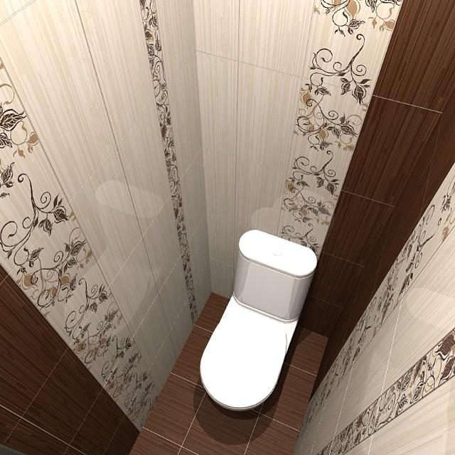 Кафель в маленьком туалете дизайн фото