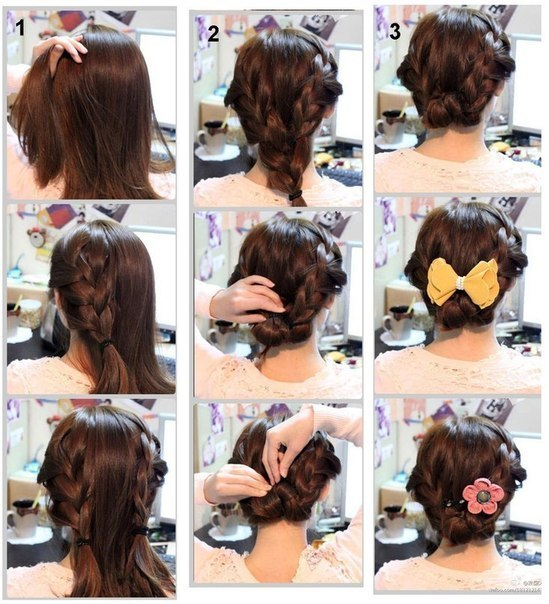 Лёгкие причёски в домашних условиях 183