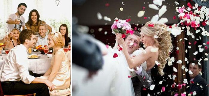 Секс на свадьбе с невестой и с гостями