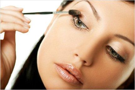 макияж для нарощенных ресниц фото