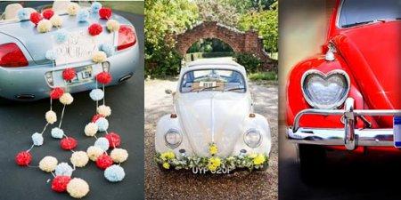 прикрашення весільних машин
