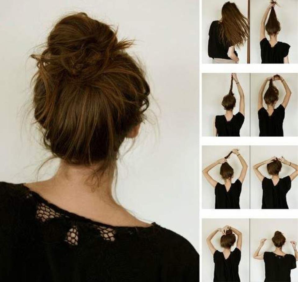 Пучки для длинных волос своими руками