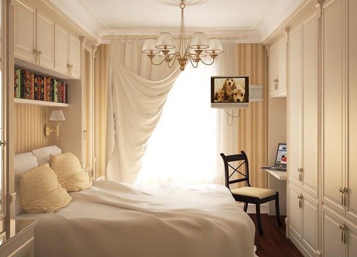 как оформить маленькую спальню фото