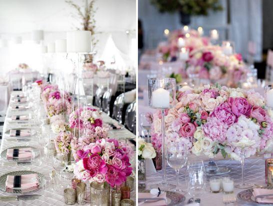 цветы оформление свадебного стола фото