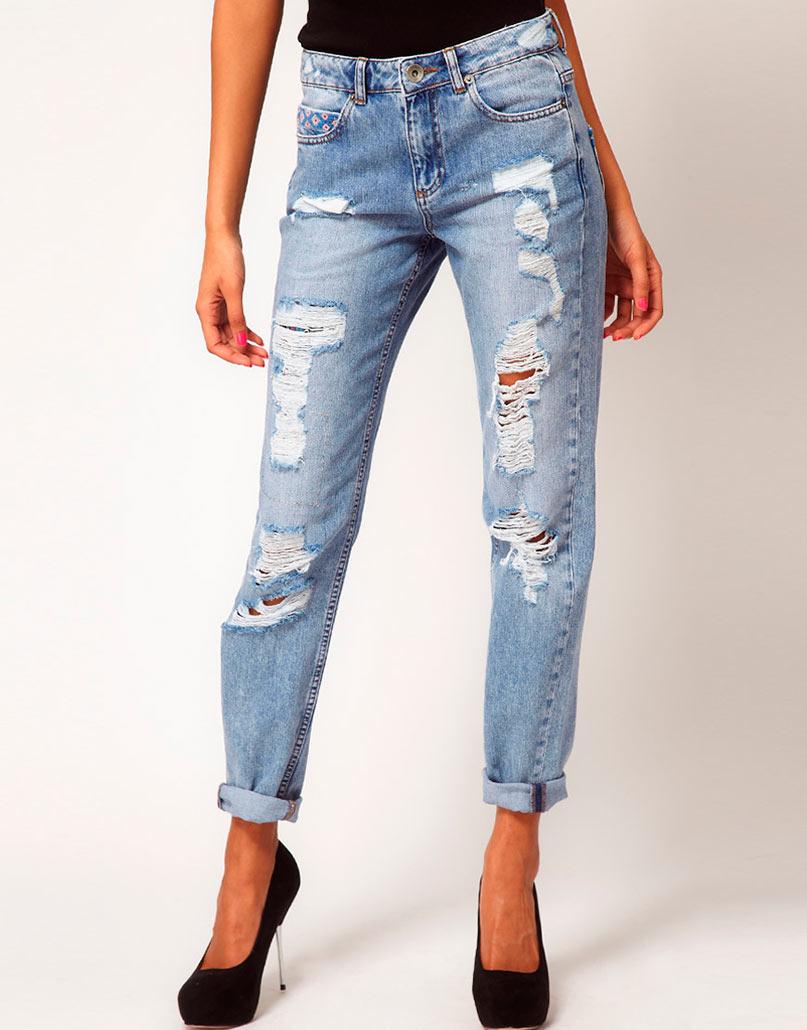 красивые модные женские джинсы фото