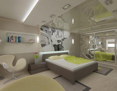 Оригинальный интерьер спален