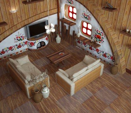 Інтер'єр будинку в українському стилі