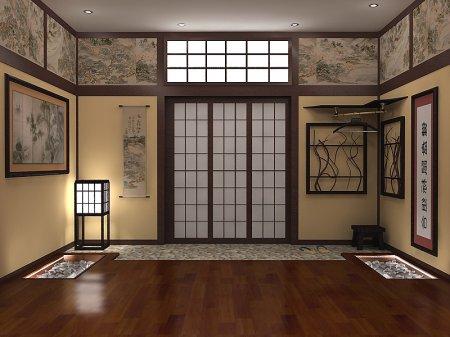 Інтер'єр передпокою в японському стилі