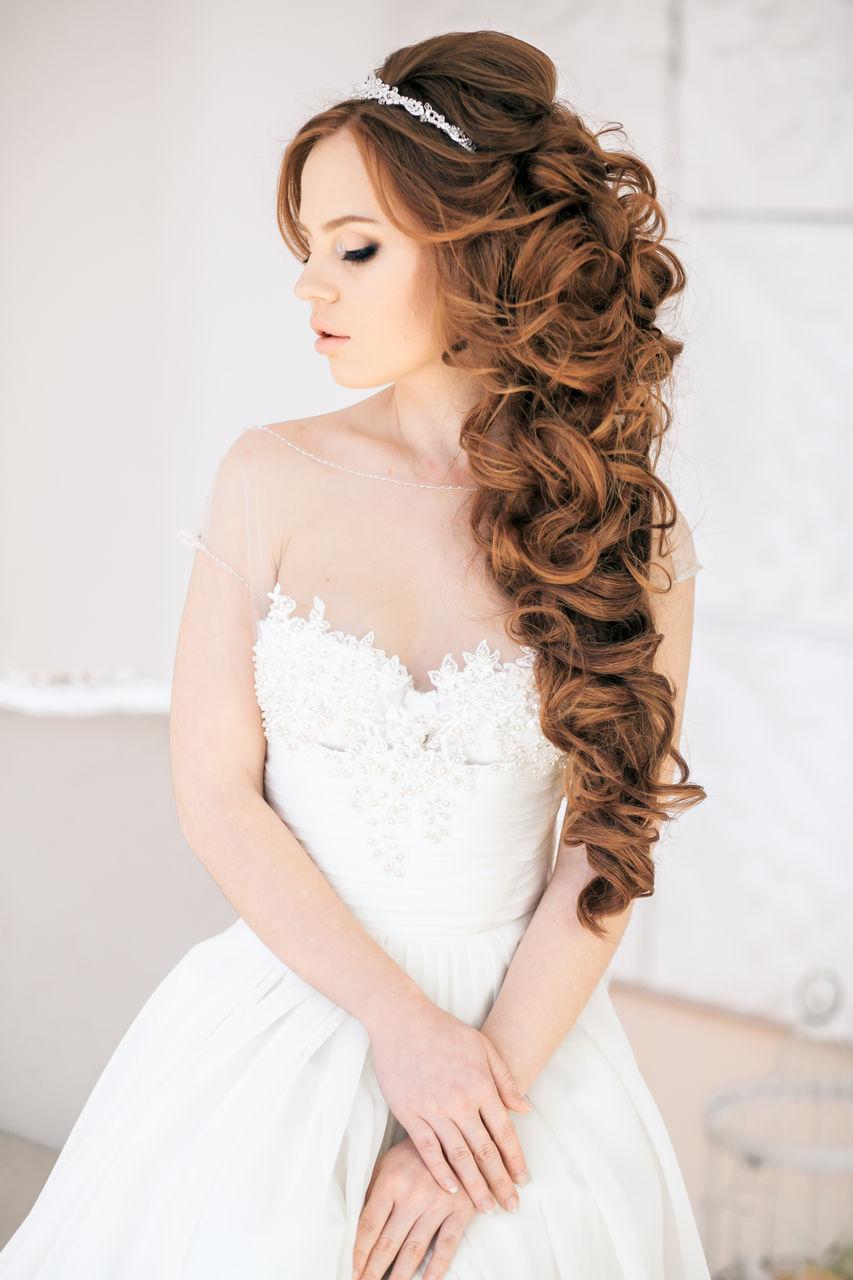Свадебные прически на длинные волосы - 250 актуальных фотографий 68