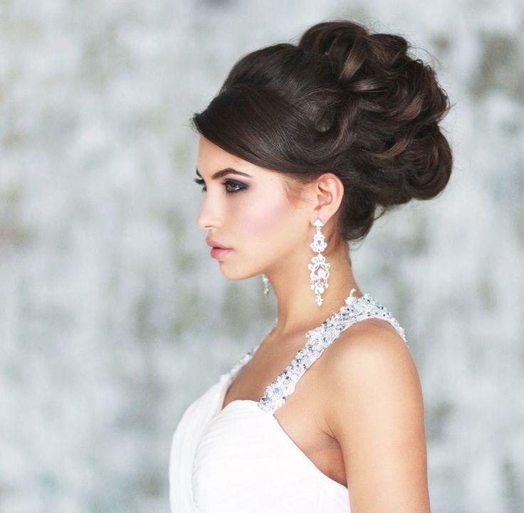 Свадебные высокие прически на длинные волосы