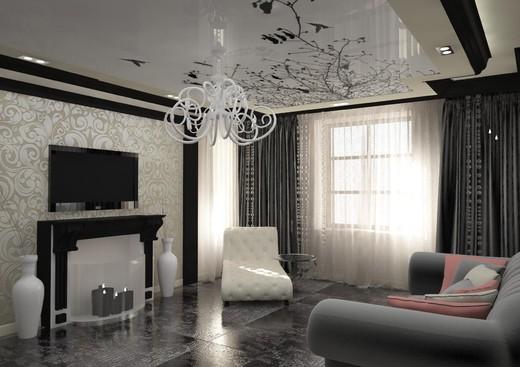 Ремонт зала в частном доме фото своими руками