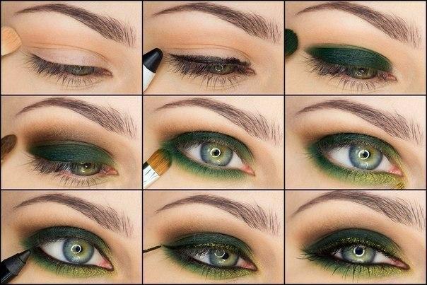 Как сделать макияж поэтапное фото