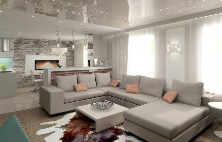 ТОП-3 дизайнерские решения для оформления интерьера гостиной