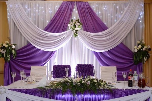 Оформление зала свадебные
