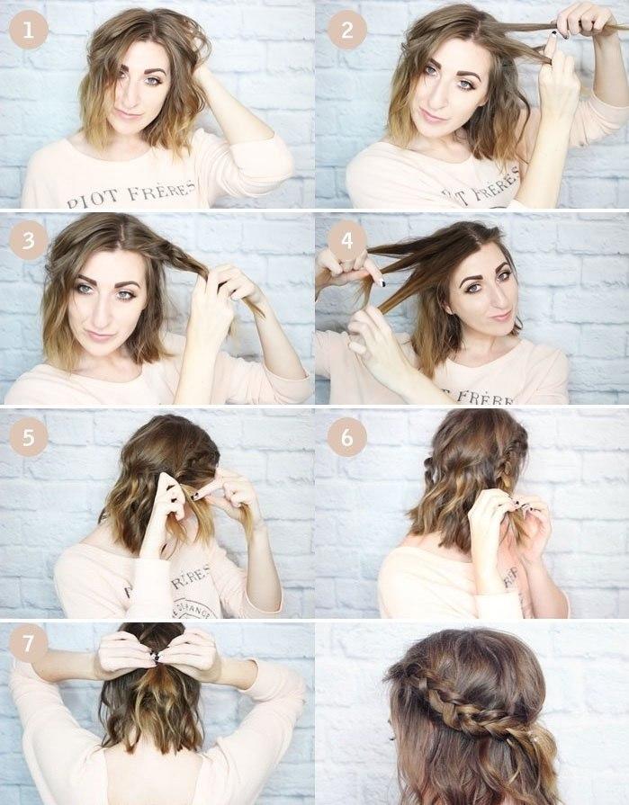 Как сделать прическу на коротких волосах