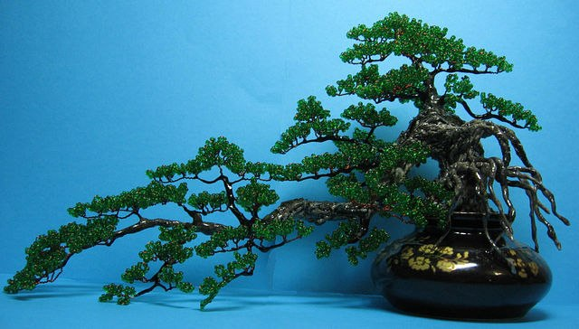 Japanese bonsai tree painting