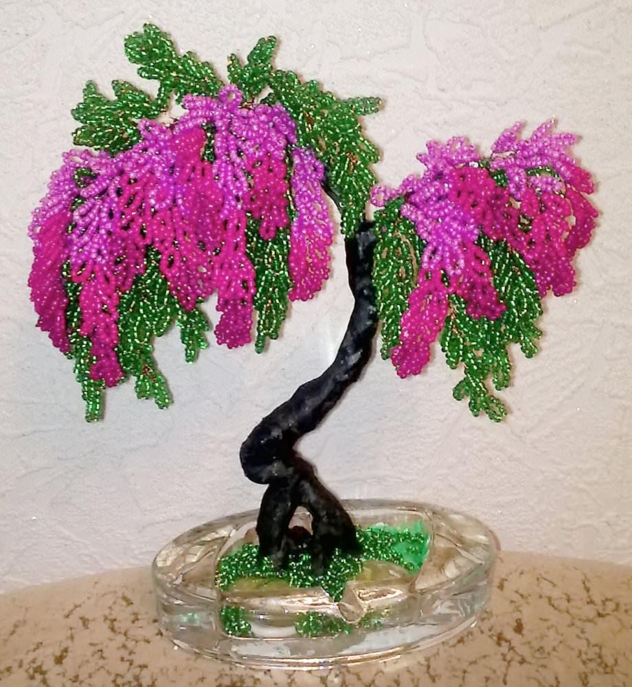 схема бисероплетении деревей