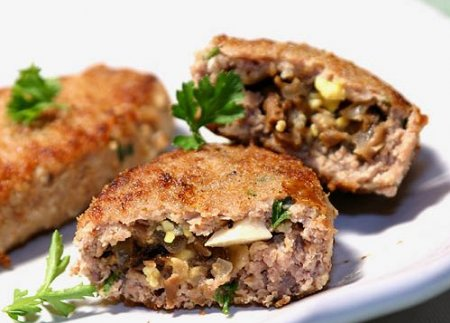 Куриный хлебец с гречнево-грибной начинкой