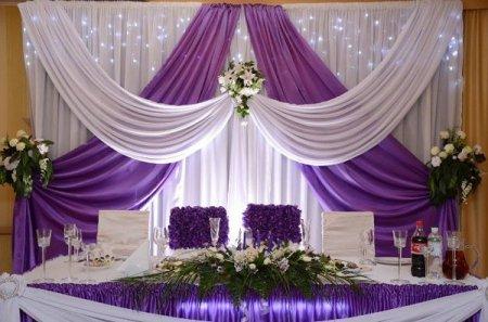Весільна прикраса залу своїми руками