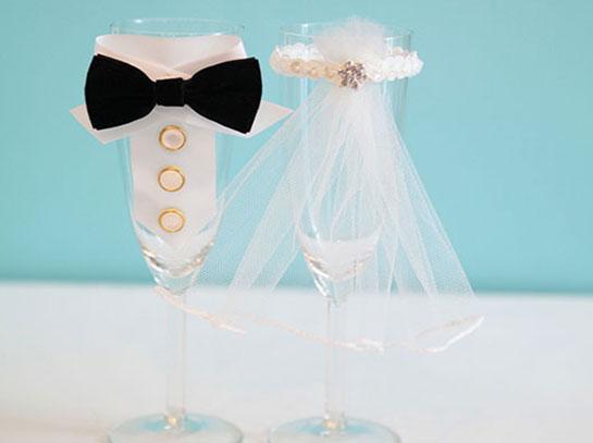Свадебный бокал своими руками жених и невеста