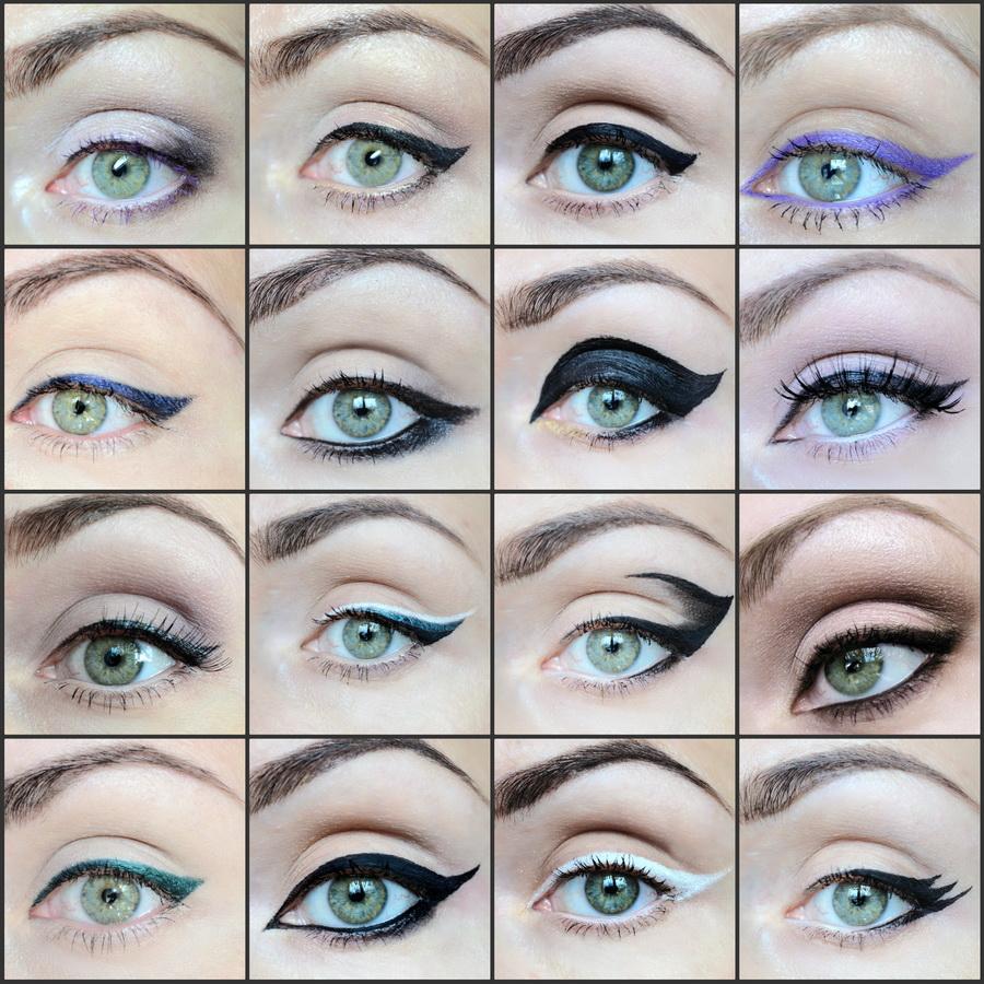 Как сделать на глаза стрелки большие