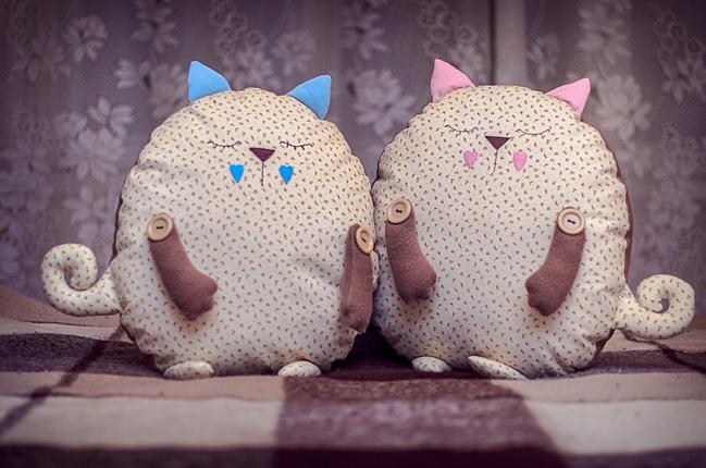 Подушки котики своими руками
