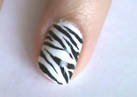маникюр зебра фото