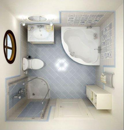 Як облаштувати інтер'єр невеликої ванної кімнати