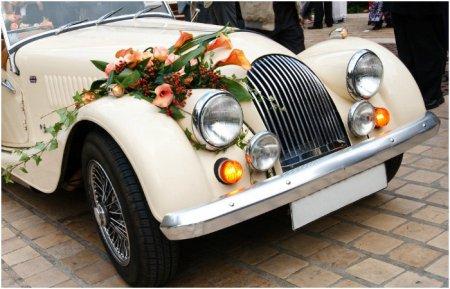 Вибираємо ефектні весільні прикраси на машину