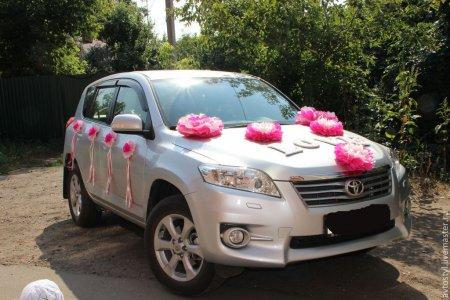 весільні прикраси на машину