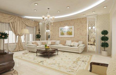 Как оформить дизайн интерьера гостиной в классическом стиле: 5 советов
