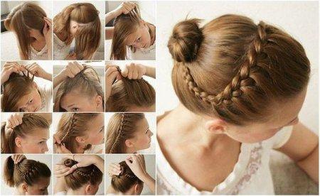 Прическа для девочек: стильные косы и жгуты