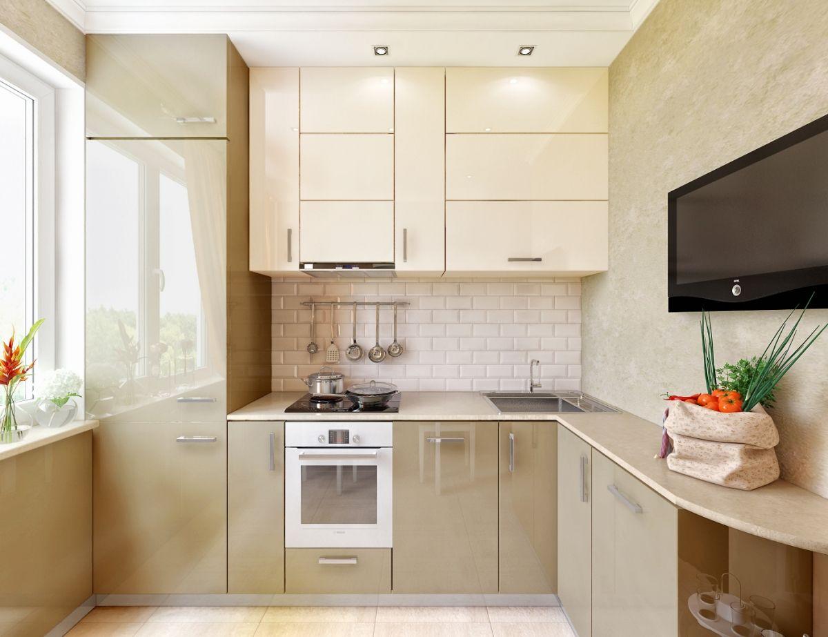 Кухни дизайн проекты 9 кв.м угловая