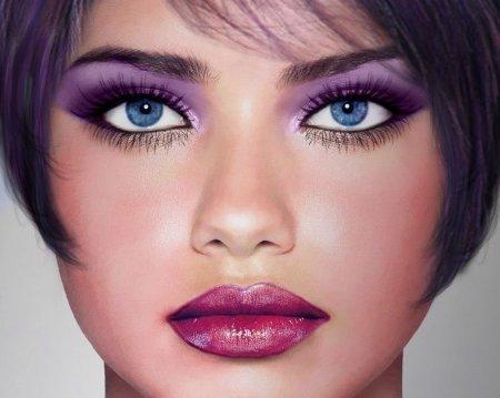 Яскравий макіяж для блакитних очей